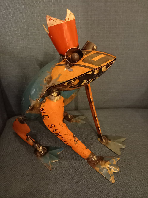 Upcycled Frog with Crown