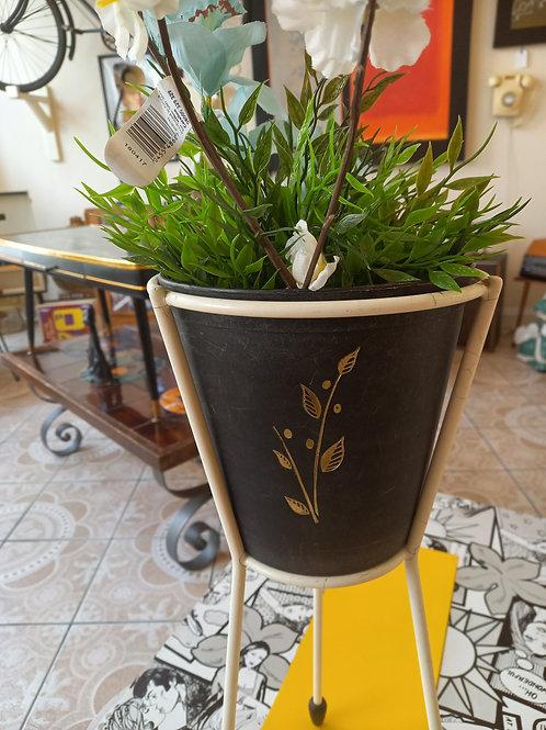 Vintage Black & White Plant  Stand
