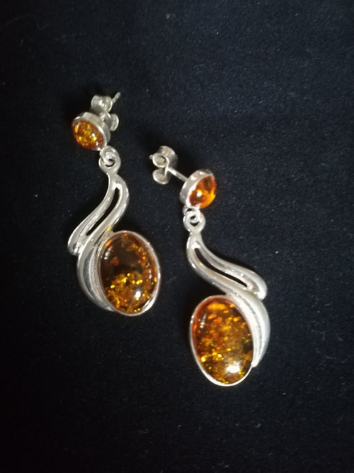 Amber Earrings -Honey
