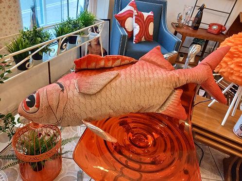 Agatha's Big Red Herring - Fish Cushion