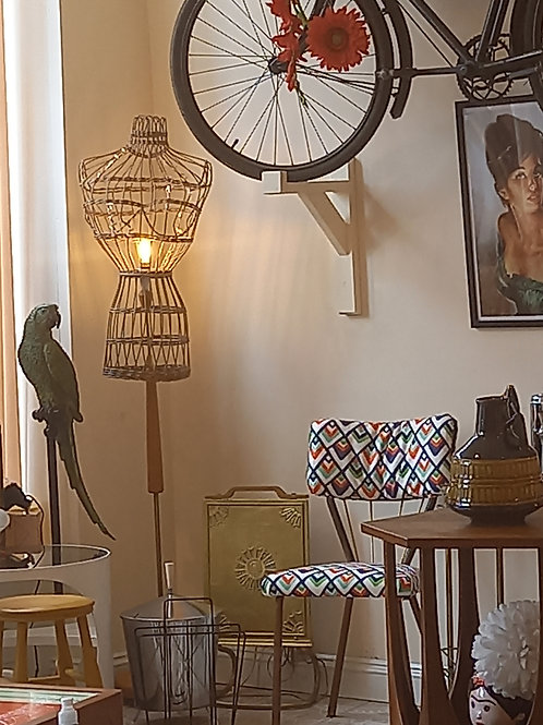 1950s Wicker Lady Lamp