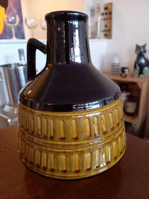 West German Vase/Jug  - Black & Mustard