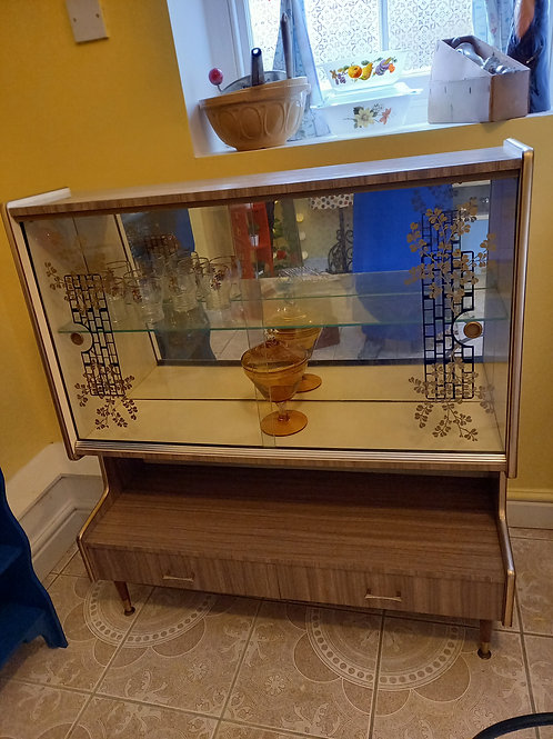 1960s Drinks Display Cabinet