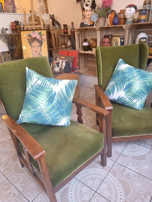 1930s Forest Green  Lounge Chairs
