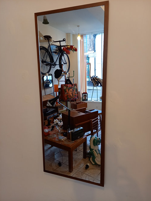 Vintage Teak Oblong Mirror