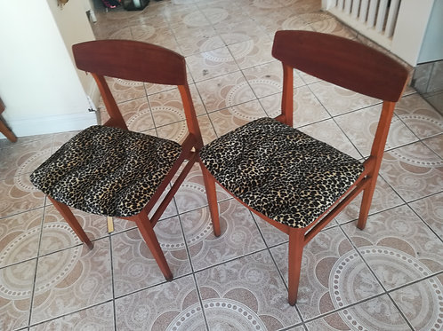 Two Teak Occasional Chairs