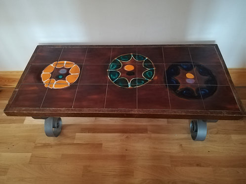 1970s Tile Coffee Table