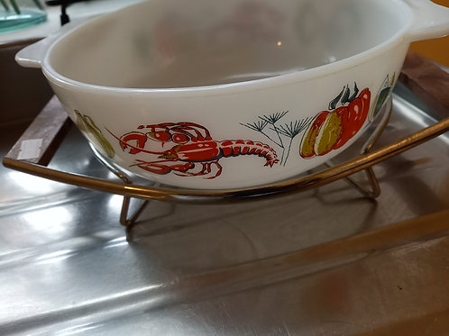 1960s Lobster dish and stand
