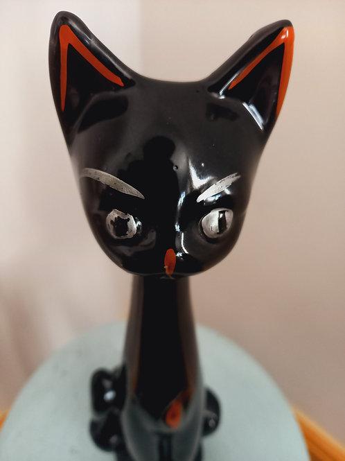 50s Black Cat Vase