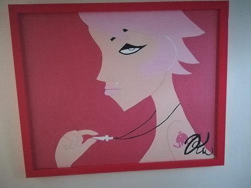 Pop Art -Oil Painting -Pink