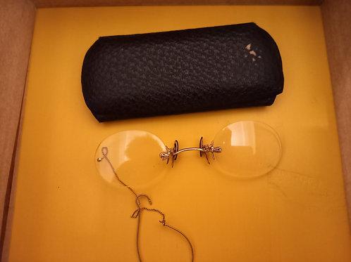 Vintage Pince-nez in a case
