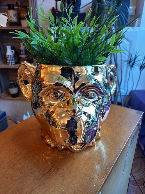 Golden Monkey Vase