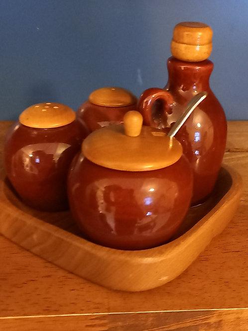 Vintage Condiments Set