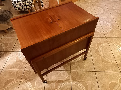 Vintage Danish Teak Drinks Trolley