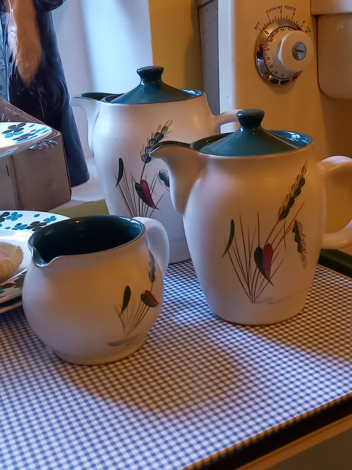 1955 Denby Greenwheat Coffee Set