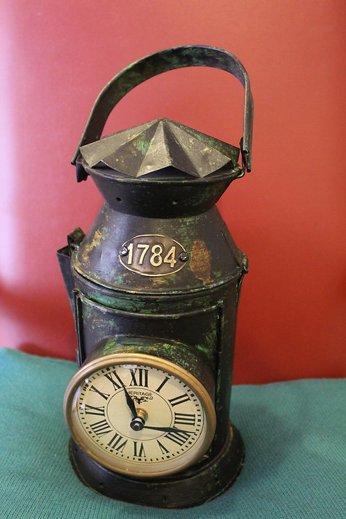 Recycled Watchman Lantern - Clock