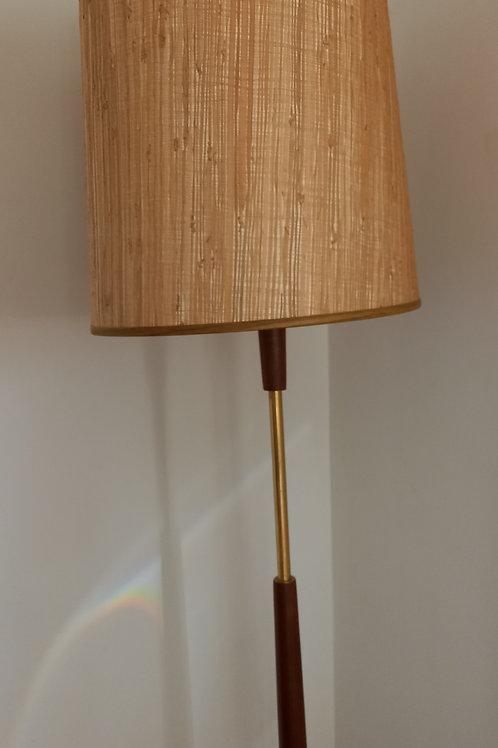 1970s Teak Floor Lamp& Shade
