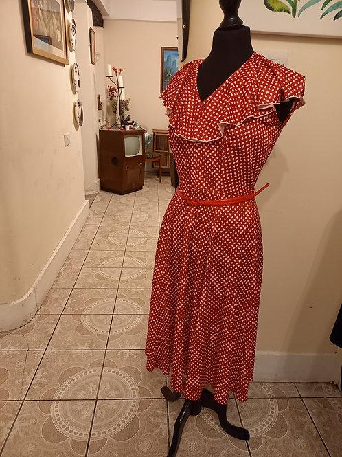 Ladies Vintage Polka Dot Dress