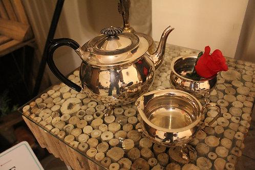 Tea Pot, Milk and Sugar Bowl