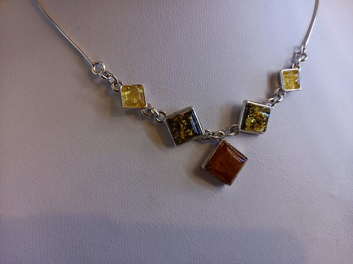 Three colour amber Art Deco Necklace