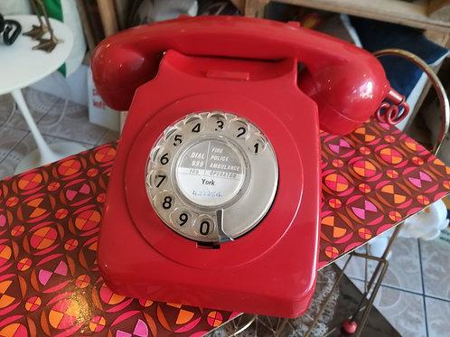 Vintage Red Telephone 706