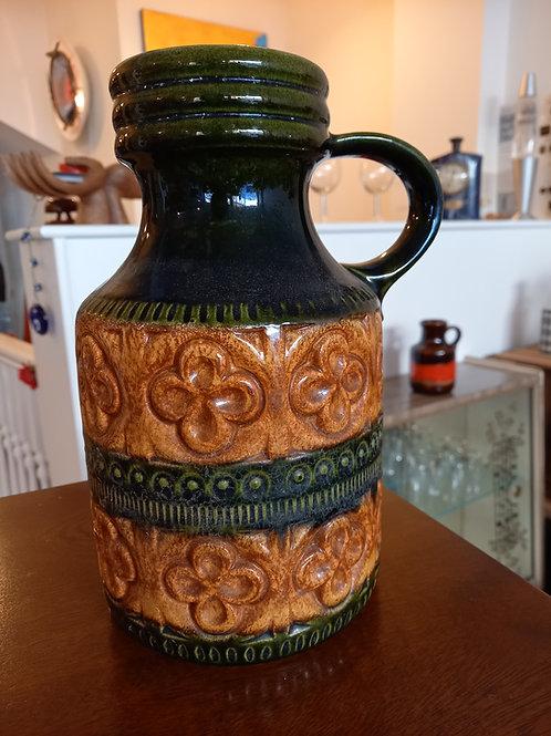 West German Vase/Jug  -Green & Brown