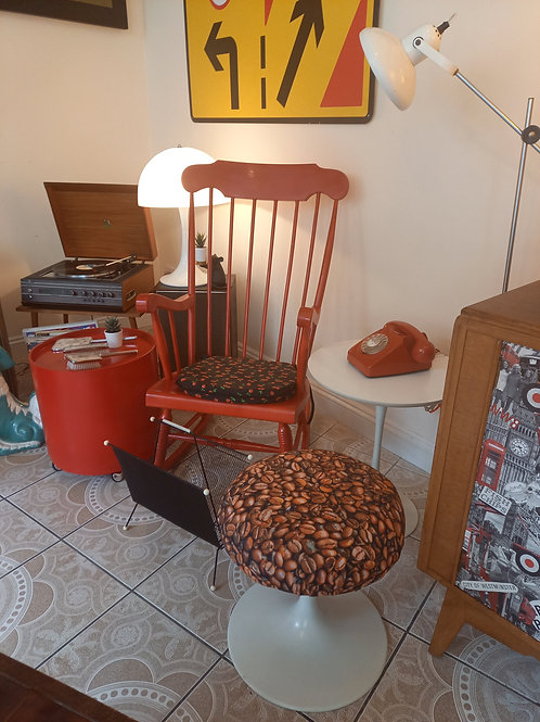 Vintage Red Rocking Chair