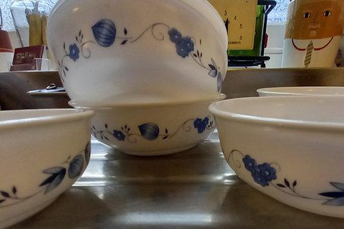 1970s Cereal Bowls  (6) -Blue