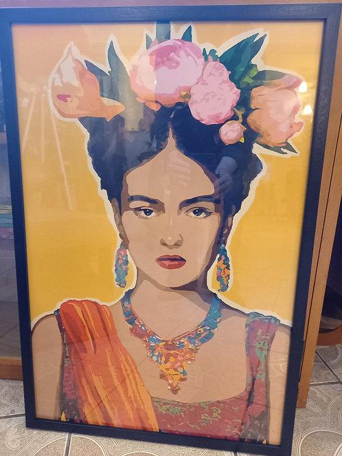 Frida Kahlo Wall Art- Yellow