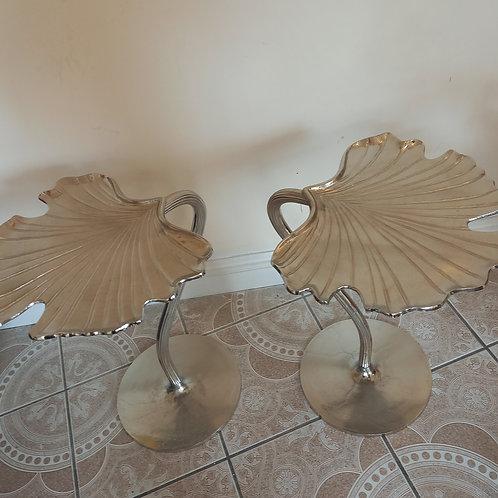 Beautiful  Ginkgo Leafy  Side Tables