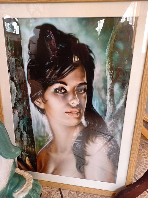 Tina Framed Print- woods