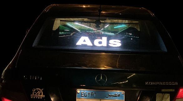 dKilo Transparent Full Color LED Ads on Cars