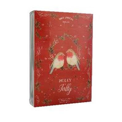 Wax Lyrical Xmas Robin Tea lights & Holder Advent Calendar