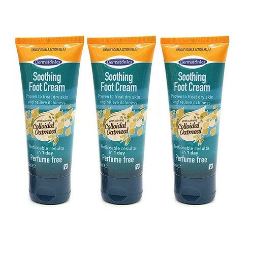 Dermatonics Natural Care Soothing Foot Cream ~ Multibuy Pack of 3