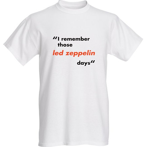 Carnival Road 'Led Zeppelin Days' Mens Tee - White