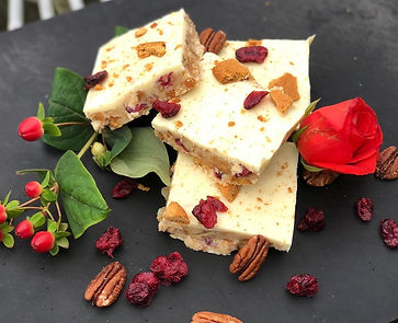 White Chocolate, Ginger and Cranberry Ti