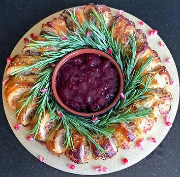 Sausage Roll Wreath