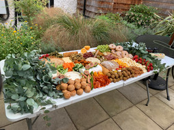 Lay Flat Original Grazing Table with Foliage