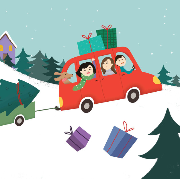 Christmas Activity Book - stickers page