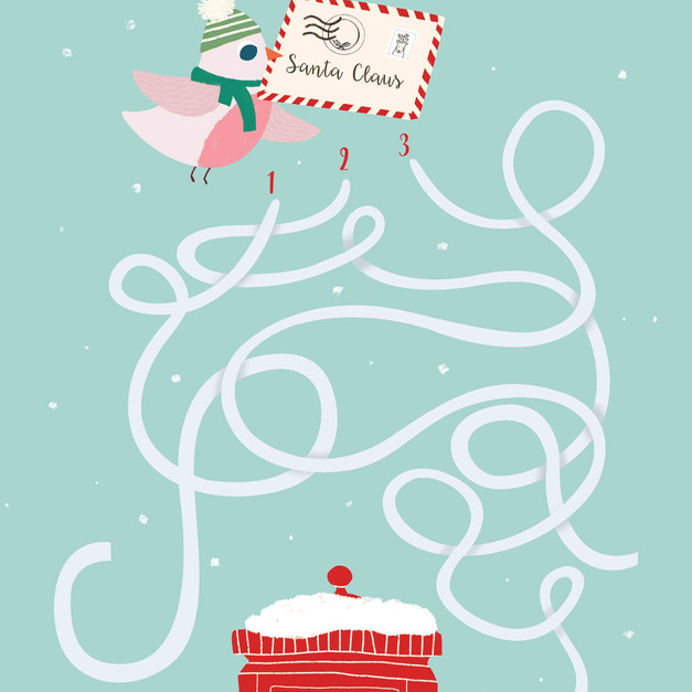 Christmas Activity Book - Maze - Labirinto