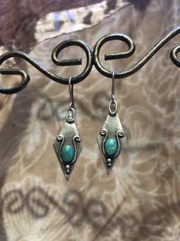 FLORINDA (Ohrringe CHrysokoll und Silber)
