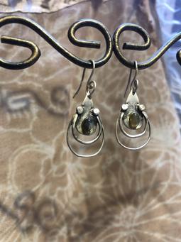 FLORINDA (Ohrringe Labradorit und Silber)