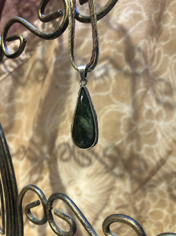 LUA (Jade in Silber gefasst)