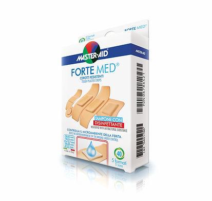 Forte Med pevná náplast mikroperforvaná prodyšná citlivá pokož antiseptická
