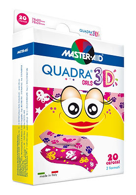 quadra 3D náplast dívky citlivá pkoka