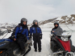 Snow mobile safari in Svalbard