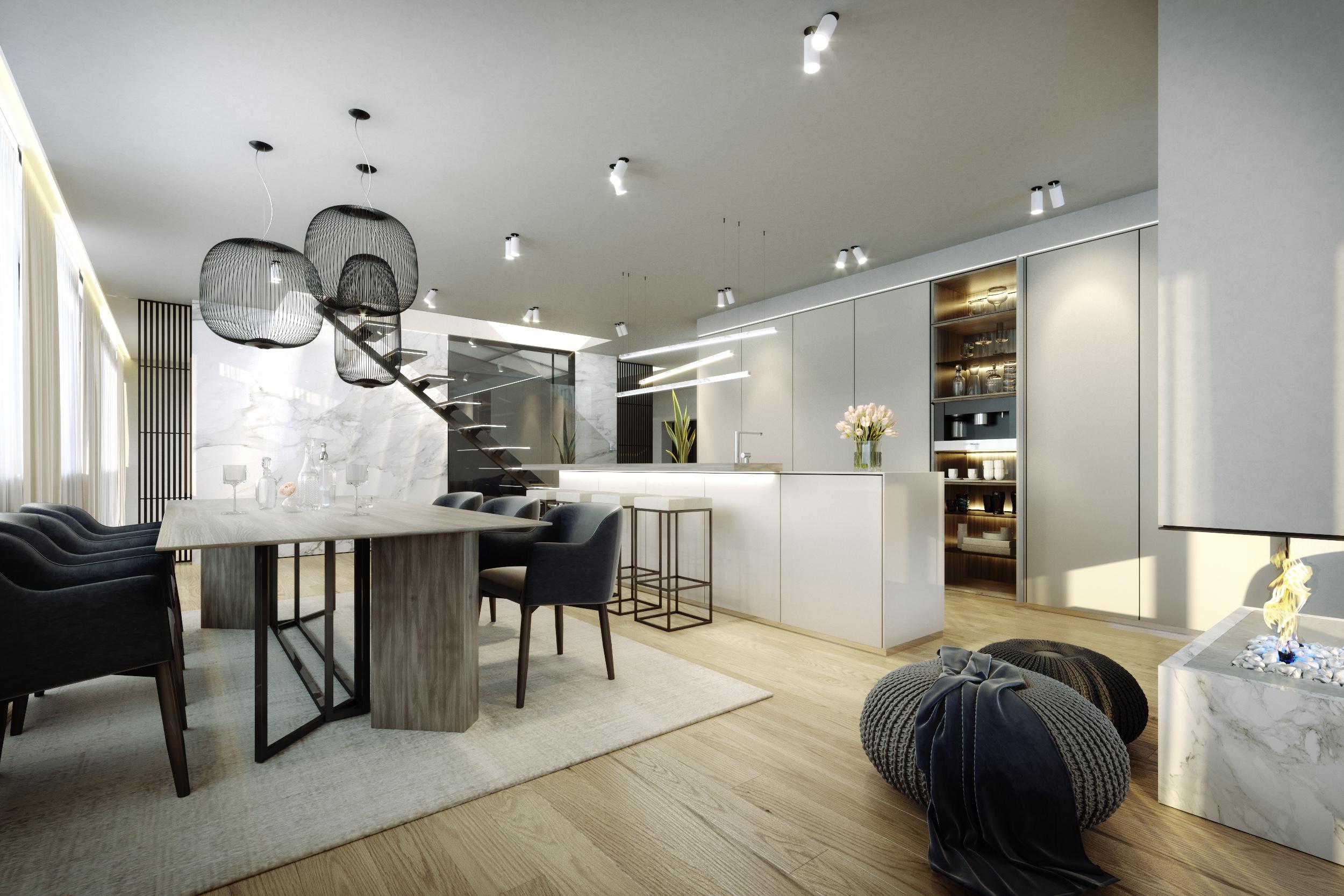 Hrebenky_Kitchen,Livingroom