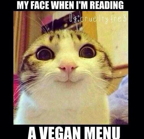 vegan menu meme