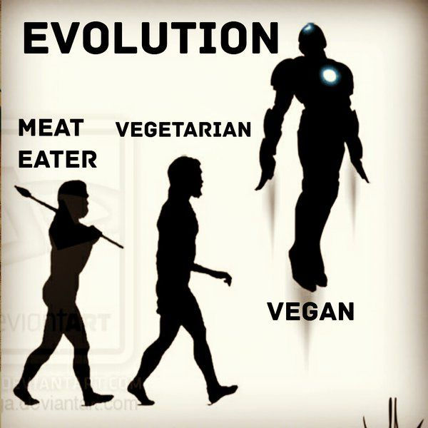vegan evolution meme