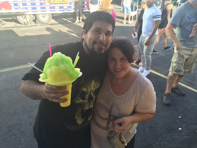 Hawaiian Shave Ice Couple
